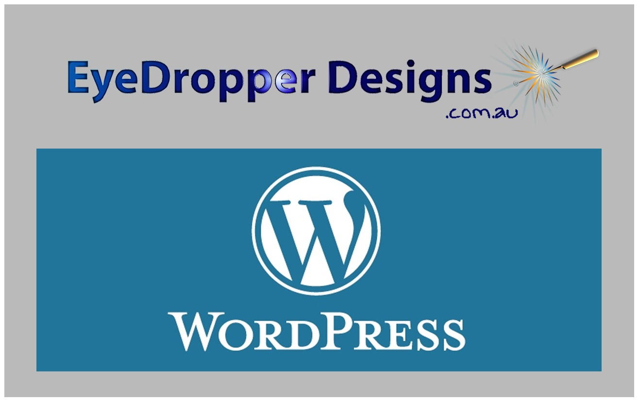 website with WordPress and Eye Dropper Designs